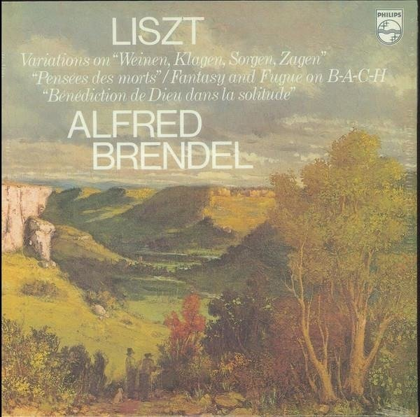 ALFRED BRENDEL Liszt Fantasia And Fugue On Bach LP