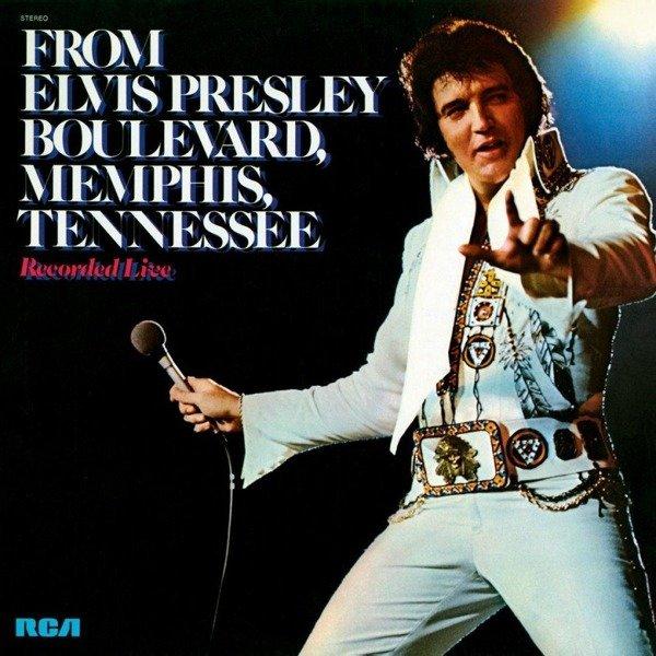 ELVIS PRESLEY From Elvis Presley Boulevard, Memphis, Tennessee (Blue Vinyl) LP