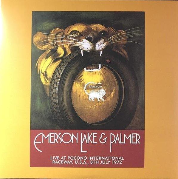 EMERSON, LAKE & PALMER Live At Pocono International Raceway, Long Pond, Pa, U.S.A., 9th July 1972 2LP
