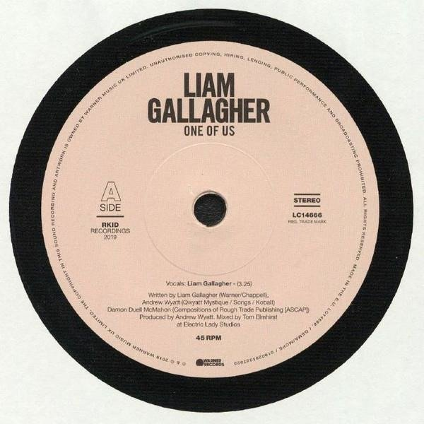 GALLAGHER, LIAM One Of Us VINYL SINGLE